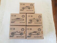 007 Shell Collection Set of 5 James Bond Cars Aston Martin Bmw lotus sunbeam