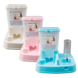 Automatic Pet Food water Dispenser Dog Cat rabbit feeder bottle Bowl Dish 3.5L