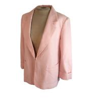 Tahari Arthur S. Levine Seersucker Stripe Blazer Jacket Pink Peach White Size 8