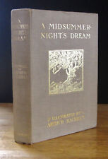 A MIDSUMMER NIGHT'S DREAM (1908) William Shakespeare, ARTHUR RACKHAM 1st Edition
