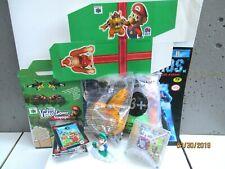 Vintage Nintendo Mario Set 8 Items Toys Gift Box Sticker Book Trading Cards