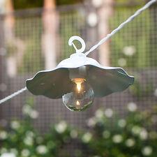 Lot de 8 LED abat-jour Lanternes Guirlande lumineuse Blanc Batterie déco