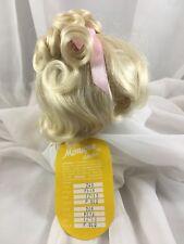 "12/13"" Curls Bangs Pale Blonde Doll Wig Reborn OOAK BJD. Bisque Repair PETA"