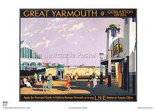 NORFOLK GREAT YARMOUTH RETRO ART VINTAGE RAILWAY TRAVEL POSTER  ADVERTISING