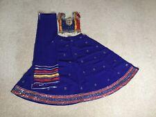 Fully Stitched Blue Rainbow Indian Bollywood Traditional Lehenga Chaniya Choli