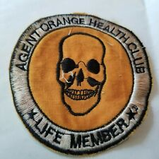 AGENT ORANGE HEALTH CLUB - LIFE MEMBER-SKULL - VIETNAM WAR PATCH (950)