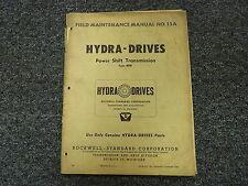 Hydra Drive BDB Power Shift Transmission Owner Operator Maintenance Field Manual