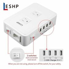 4-Port USB Desktop Multi-Devices Fast Charging Wall Charger Hub Adapter Socket