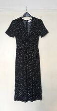 Miss Selfridge Petite Black Star Print Jumpsuit UK 6 -