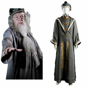 Principal Magician Albus Dumbledore Cosplay Costume Outfit Halloween