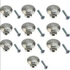 10 pcs Round Stainless Steel Drawer Handles Knobs Cabinet Knobs Kitchen Cupboard
