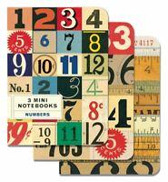 Cavallini - Set Di 3 Mini Quaderni - Numeri - Foderato,Vuoto & Grafico