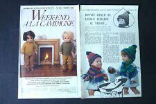 MODES ET TRAVAUX M-Françoise et J-Michel Week-end à la campagne 1983 Réf 222