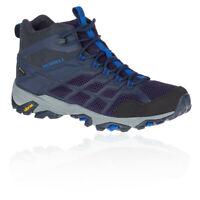 Merrell Mens Moab FST 2 GORE-TEX Walking Boots Black Blue Sports Outdoors