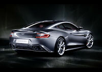 ASTON MARTIN VANQUISH REAR SIDE NEW A1 CANVAS GICLEE ART PRINT POSTER