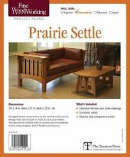 Fine Woodworking's Prairie Settle Plan by Editors of Fine Woodworking