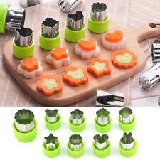 9pcs Mini Stainless Steel Fruit Vegetable Cookie Shape Cutters Kid Food Mold Set