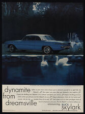 1961 BUICK SKYLARK Blue Car - Swan's - Candlelight Dinner - VINTAGE AD
