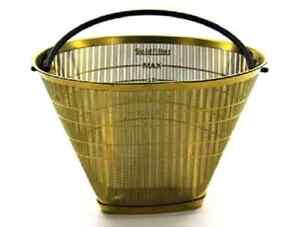 Dauerfilter Kaffeefilter Gold für 6-12 Tassen aus Ganzmetall