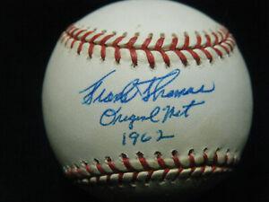 Vintage Frank Thomas Original Met 1962 signed NL Coleman baseball