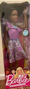 "Life size Barbie 28"" Purple Posable Just Play Best Fashion Friend Doll Curly Nib"