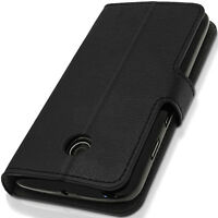 PU Leather Skin Card Wallet Case for Motorola Moto E Flip Folio Stand Book Cover