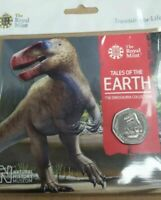Dinosaur 50p Megalosaurus 2020 Fifty Pence Coin BU BUNC Royal Mint Sealed Pack