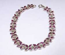 .925 Sliver Bracelet - Natural Ruby