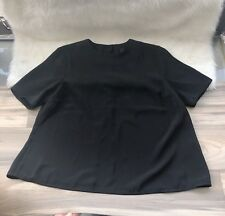 YAS Short Sleeve Flounce Top Blouse Women Open Back Black Size XS A Line Tshirt