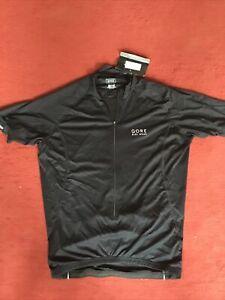 Gore Bike Wear Mens Contest Jersey in Black Size Large BNWT