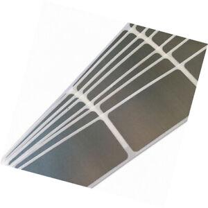 Label Scratch off/gratta e vinci colore silver su pvc adesivo rettangolare