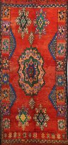 Antique Handmade Authentic Moroccan Berber Oriental Area Rug Vegetable Dye 7x11