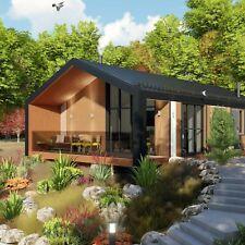 Modern floor plan - Barn house 84.06 m2 (Metric measuring)