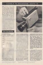 Braun / Niezoldi & Krämer Nizo S8 Super-8 Kamera - Original Bericht von 1965
