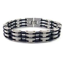 Stainless Steel Cross Design Biker Chain Bracelet