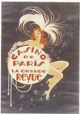 FRENCH VINTAGE POSTER 50x70cm CASINO DE PARIS LA GRANDE REVUE