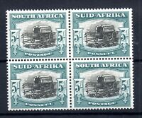 South Africa 1947-54 5/- LHM block SG#122 WS16501