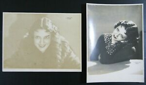 2 photos argentique portrait SUZY VERNON actrice française années '20 Lipnitzki