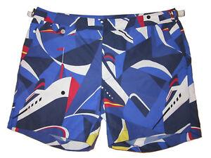 Purple Label Ralph Lauren Blue Cruise Collection Ships Swim Trunks Suit 36