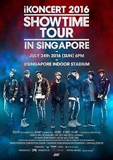 "iKoncert ""Showtime Tour"" 2016 Singapore Concert Poster - K Pop, Hip Hop Music"