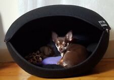 Cat Bed Pod Cave Dog Bed Black