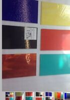 "#003 Lot Of 7 MIXED Pieces 8x5"" Stained Glass Sheets SHIPS FREE Pics Like U Get"