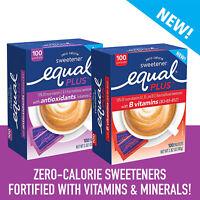 2 EQUAL PLUS Zero Calorie Sweetener Low Carb Sugar Substitute 200 Packets