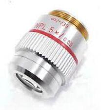 LEITZ Wetzlar NPL 5x / 0,09 pollici P OBIETTIVO LENS-MICROSCOPIO LEICA
