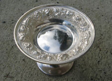 Vintage Steiff Sterling Silver Repousse Compote Dish #126