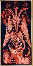 """Baphomet Red GIANT DOOR size 50""""x 24"""" Satanic Worship Poster Evil Art Halloween"""
