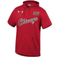 Chicago Bulls Mitchell & Ness NBA HWC French Terry Short Sleeve Hoodie Jumper -