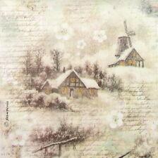 Rice paper Decoupage Scrapbooking Sheet Snowy Landscape