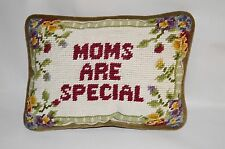 Moms Are Special Floral Border Embroidered Pillow CF Enterprises