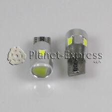 2 x Bombillas 6 LED SMD 5630 con LENTE Blanco CANBUS T10 W5W Posicion, interior